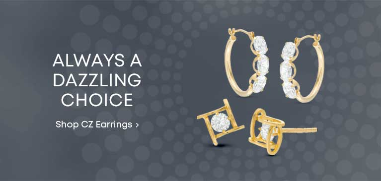 e6fbb1b17 Always A Dazzling Choice. Cubic Zirconia Adds Sparkle To These Styles. Shop  CZ Styles